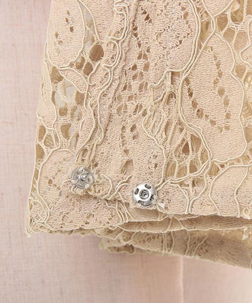 8de0aa714164b 3wayレーススリーブノーカラー結婚式ボレロ・パーティージャケット. by GIRL. Color   ...