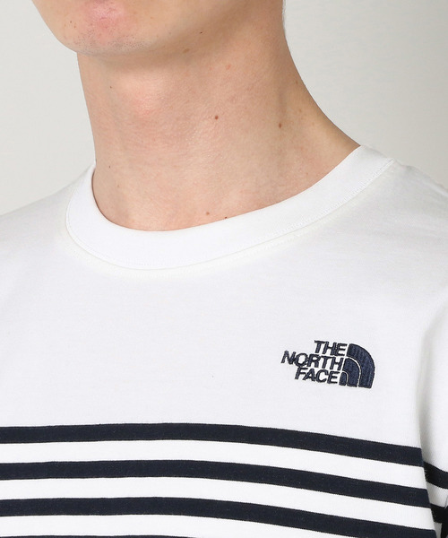 d7a6f77c3d2a0 ショート スリーブ パネル ボーダーティー S/S Panel Border Tee NT31950. by THE NORTH FACE.  Color : ...