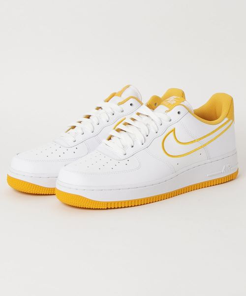 09f1ca627b64e NIKE | NIKE AIR FORCE 1 '07 LTHR (WHITE/YELLOW OCHRE) 【SP】 - Buyee ...