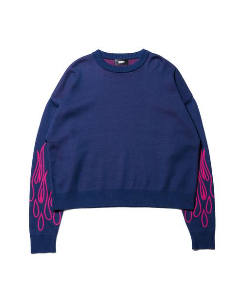 MYNE | 【MYne】 fire knit pullover - Buyee, an Online Proxy Shopping