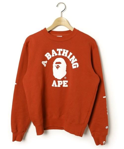 30171d3b0 by A BATHING APE Tops/Shirts / Blouses 6,100 yen (US$58.14) ·  プリントスウェットカットソー【championコラボ】