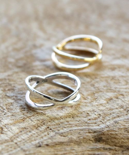 Stainless Steel 2 Color Oval Half-Round Band Ring