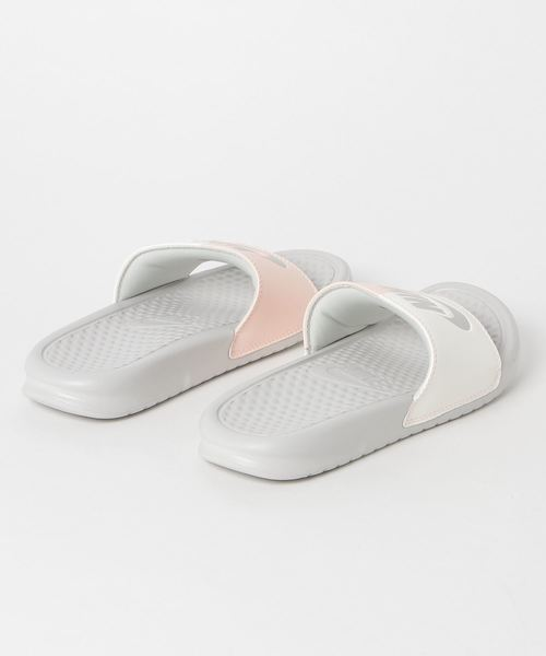 official photos 5f540 54b9f NIKE WMNS BENASSI JDI (LIGHT BONE LIGHT BONE-SAIL-CRIMSON TINT)  SP . by  NIKE. Color   ライトグレー ...